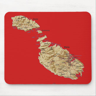 Malta Map Mousepad
