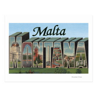 Malta MontanaLarge Letter ScenesMalta MT Post Card
