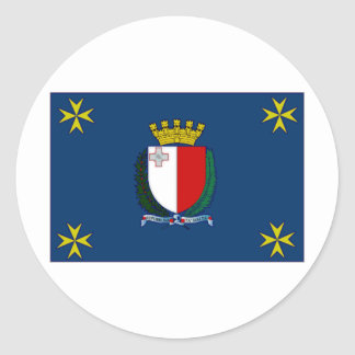 Malta President Flag Classic Round Sticker