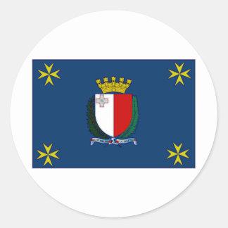 Malta President Flag Round Sticker