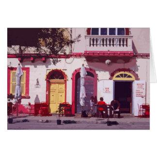 Malta retro poster-style card