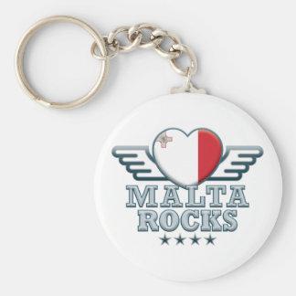 Malta Rocks v2 Basic Round Button Key Ring