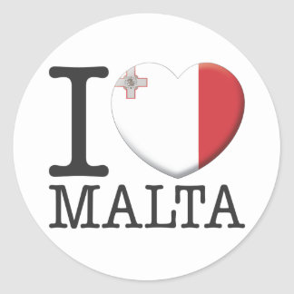 Malta Round Sticker