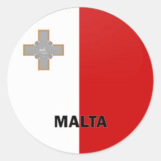 Malta Roundel quality Flag Classic Round Sticker
