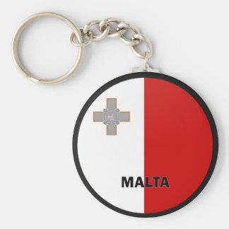 Malta Roundel quality Flag Key Ring