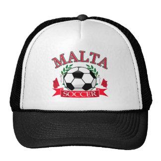Malta soccer ball designs mesh hat
