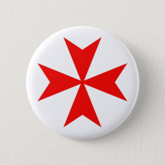 malta templar knights red cross religion symbol 6 cm round badge