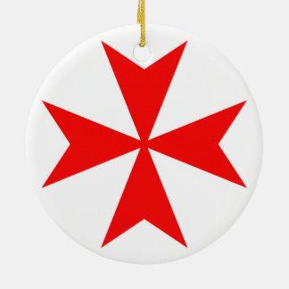 malta templar knights red cross religion symbol christmas ornament