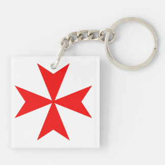 malta templar knights red cross religion symbol key ring