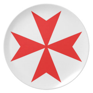 malta templar knights red cross religion symbol plate