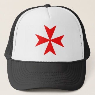 malta templar knights red cross religion symbol trucker hat