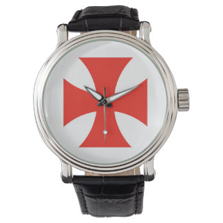 malta templar knights red cross religion symbol watch