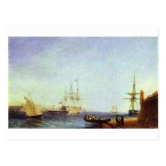Malta Valetto Harbour by Ivan Aivazovsky Postcard