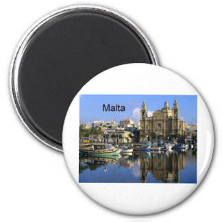 Malta Vallete Harbor (St.K) Magnet