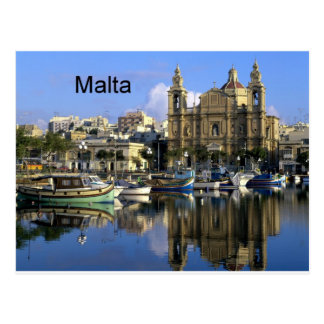 Malta Vallete Harbor (St.K) Postcard