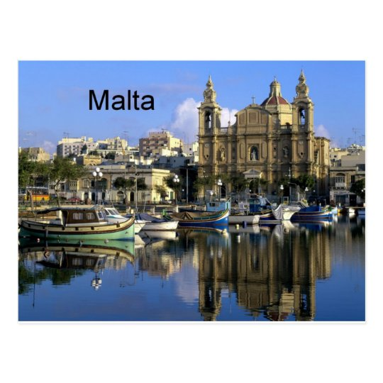 Malta Vallete Harbour (St.K) Postcard
