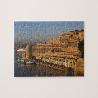 Malta, Valletta, harbor view from Lower Barrakka Jigsaw Puzzle