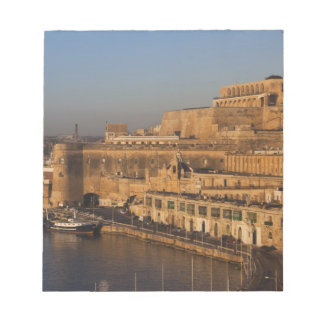 Malta, Valletta, harbor view from Lower Barrakka Notepad