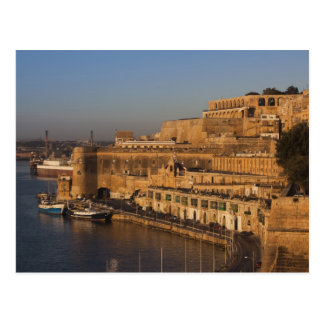 Malta, Valletta, harbor view from Lower Barrakka Postcard