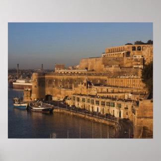 Malta, Valletta, harbor view from Lower Barrakka Poster