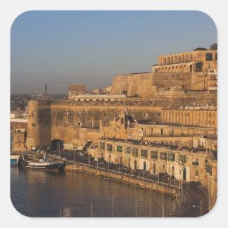 Malta, Valletta, harbor view from Lower Barrakka Square Sticker