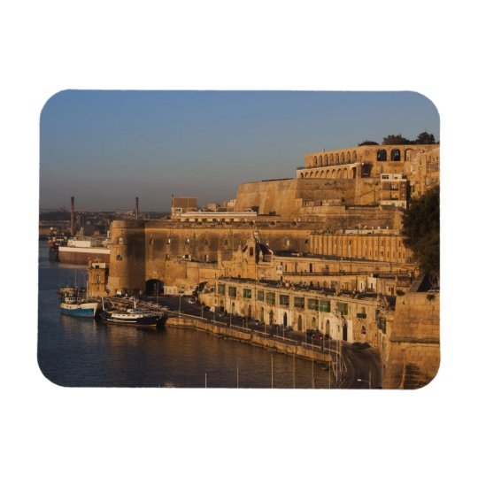 Malta, Valletta, harbour view from Lower Barrakka Magnet