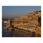Malta, Valletta, harbour view from Lower Barrakka Poster
