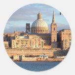 Malta Valletta (St.K) Classic Round Sticker