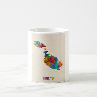 Malta Watercolor Map Coffee Mug