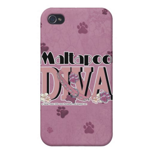 MaltaPoo DIVA iPhone 4 Covers