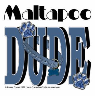 MaltaPoo DUDE Standing Photo Sculpture