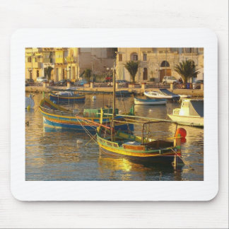 Maltese Boats Mouse Mat
