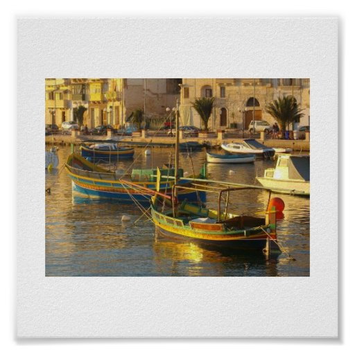 Maltese Boats Posters