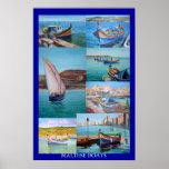 Maltese Boats Poster