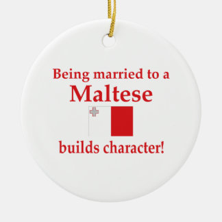 Maltese Builds Character Christmas Ornament