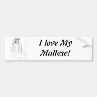 Maltese Car Bumper Sticker
