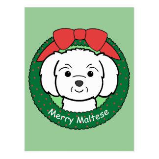 Maltese Christmas Postcard