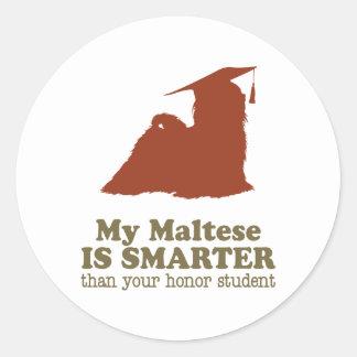 Maltese Classic Round Sticker