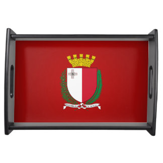 Maltese coat of arms serving tray