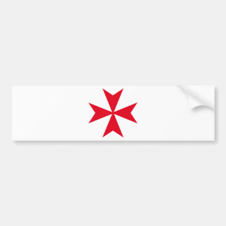 maltese cross bumper sticker