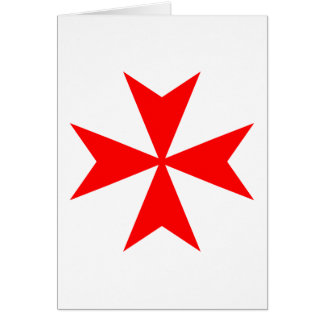 Maltese Cross Greeting Card