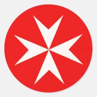 Maltese Cross Classic Round Sticker