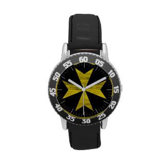 Maltese Cross Wrist Watch