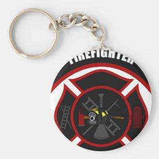 Maltese Cross - Firefighter Key Ring