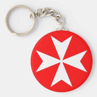 Maltese Cross Key Ring