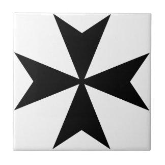 Maltese Cross Small Square Tile