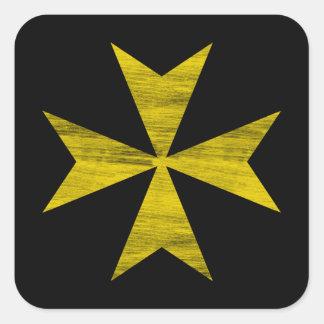 Maltese Cross Square Sticker
