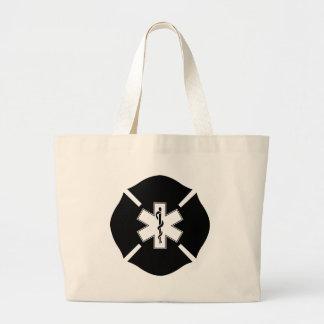 Maltese Cross & Star of Life Jumbo Tote Bag
