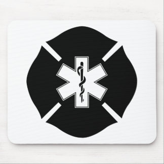 Maltese Cross & Star of Life Mouse Pad