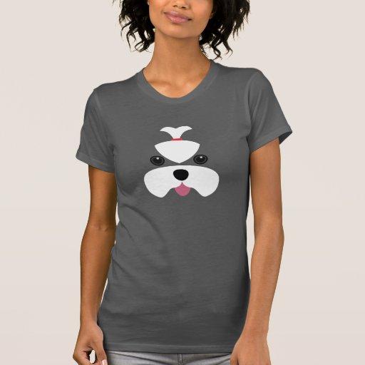 Maltese cutesy face t-shirt